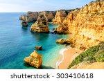 a view of a shore near portimao ... | Shutterstock . vector #303410618