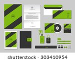 corporate identity template for ... | Shutterstock .eps vector #303410954