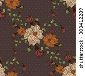 beautiful seamless pattern with ... | Shutterstock .eps vector #303412289