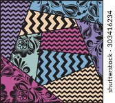 color seamless patchwork... | Shutterstock . vector #303416234