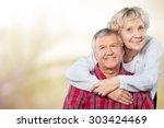 senior couple  hope  care. | Shutterstock . vector #303424469