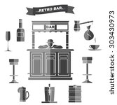 interior and subjects of bar in.... | Shutterstock . vector #303430973