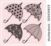 Vintage Lace Parasol. Set