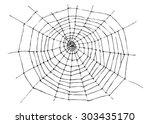 Hand Sketch Spider Web