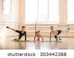 young dancers warming up at... | Shutterstock . vector #303442388
