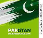 14 august pakistan independence ... | Shutterstock .eps vector #303445040