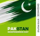 14 august pakistan independence ... | Shutterstock .eps vector #303445040