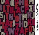 retro stripes funky fonts ... | Shutterstock .eps vector #303449714