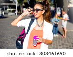 outdoor lifestyle funny and... | Shutterstock . vector #303461690