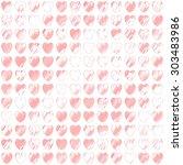 seamless love heart background  | Shutterstock . vector #303483986