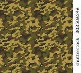brown   green military... | Shutterstock .eps vector #303506246