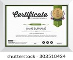 certificate template with... | Shutterstock .eps vector #303510434