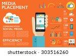flat design vector illustration ... | Shutterstock .eps vector #303516260