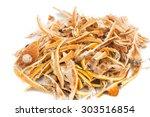 Closeup Of Dried Lemon Citrus...