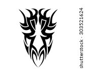 tribal tattoo vector design... | Shutterstock .eps vector #303521624