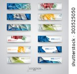 color banners set with... | Shutterstock .eps vector #303525050