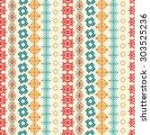 ethnic boho seamless pattern....   Shutterstock .eps vector #303525236
