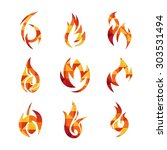 fire icon template | Shutterstock .eps vector #303531494