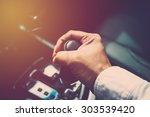 Business Man Driver Hand...