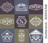 gun shop logotypes and badges  | Shutterstock .eps vector #303541568