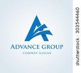 advance business  a letter logo ...   Shutterstock .eps vector #303544460