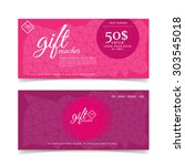 gift voucher colorful   Shutterstock .eps vector #303545018