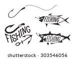 Hand Drawn Fishing Symbols
