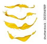 yellow paint splashes... | Shutterstock . vector #303546989