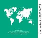 world map illustration | Shutterstock .eps vector #303556694