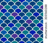 seamless colorful fish scales... | Shutterstock .eps vector #303560288