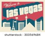 las vegas postcard   Shutterstock .eps vector #303569684