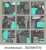 hand drawn collection of... | Shutterstock .eps vector #303584570