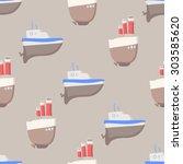 seamless vector pattern  baby...   Shutterstock .eps vector #303585620
