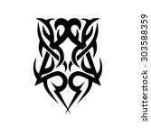 tribal tattoo vector design...   Shutterstock .eps vector #303588359