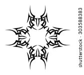 tribal tattoo vector design... | Shutterstock .eps vector #303588383