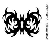 tribal tattoo vector design...   Shutterstock .eps vector #303588830