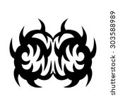 tribal tattoo vector design... | Shutterstock .eps vector #303588989