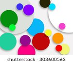 white 3d circle color background | Shutterstock . vector #303600563