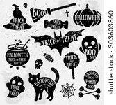 set of halloween characters... | Shutterstock .eps vector #303603860