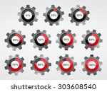 gears with progress indicators