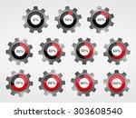 gears with progress indicators