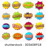 collection of templates... | Shutterstock .eps vector #303608918