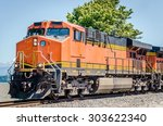 diesel locomotive on a clear... | Shutterstock . vector #303622340