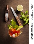 bloody mary cocktail | Shutterstock . vector #303622700