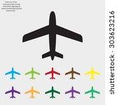 plane icon | Shutterstock .eps vector #303623216