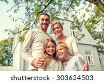 family  happiness  generation ... | Shutterstock . vector #303624503