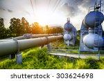 glow light of petrochemical... | Shutterstock . vector #303624698