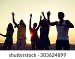 friendship  summer vacation ... | Shutterstock . vector #303624899