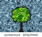business tree concept as a... | Shutterstock . vector #303625460