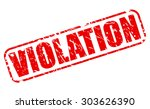 violation red stamp text on... | Shutterstock .eps vector #303626390